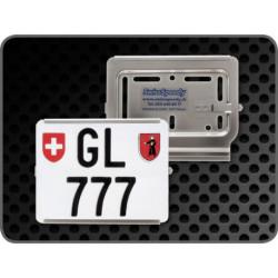 Swissspeedy support de plaque chrome ouv.droite