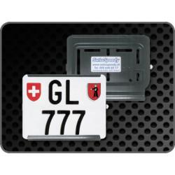 Swissspeedy support de plaque noir ouv.droite