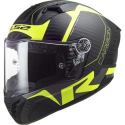LS2 FF805 Thunder C Racing1 carbon noir-jaune M