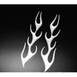 3-D Sticker flame medium droite et gauche