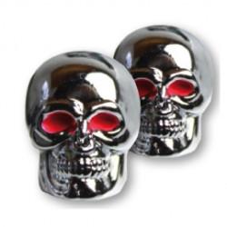 Capuchons de valve Skull chromé
