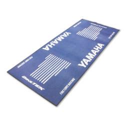 Tapis de moto Yamaha bleu