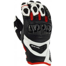 Gants Richa racing Stealth blanc M