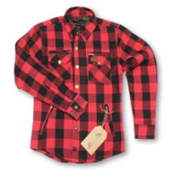 Moto Eleven Kevelar chemise dame rouge-noir 36