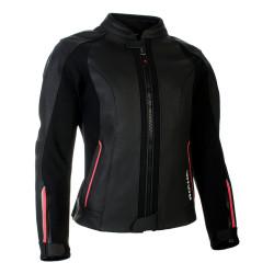 Richa veste cuir dame Nikki noir-rose 40