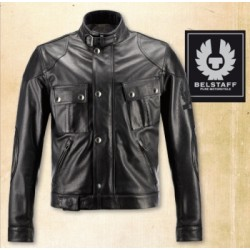 2XL Belstaff veste cuir Oliversmount noir