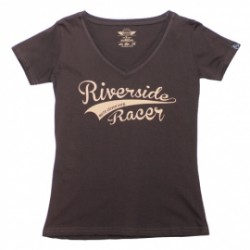 T-Shirt Moto Eleven Riverside lady racer brun M