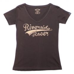 T-Shirt Moto Eleven Riverside lady racer brun XS