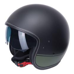 M11 casque Jet Vintage noir-vert mat XS