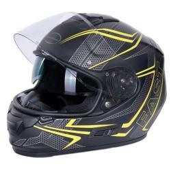 M11 Fast casque intégral noir-jaune XS