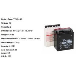 Batterie YTX7L BS YUASA