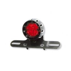 Feu arrière LED Miles acier noir